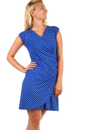 5c1560e6022e Dámske zavinovacie retro šaty s bodkami