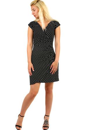 d1f07a448a55 Dámske zavinovacie retro šaty s bodkami