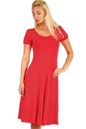 Bodkované červené dámske retro šaty e88fa48c976