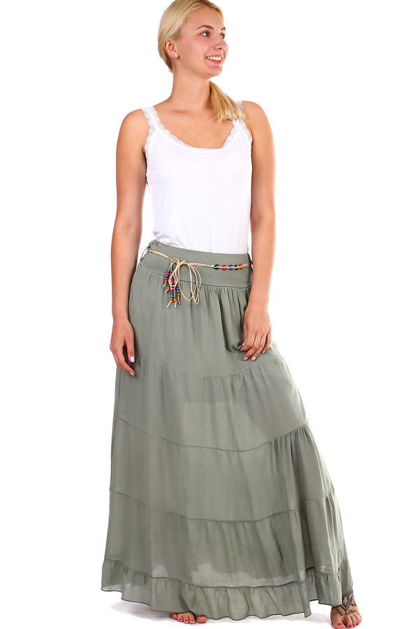 5052c9b1a999 Jednofarebná dlhá dámska maxi sukňa