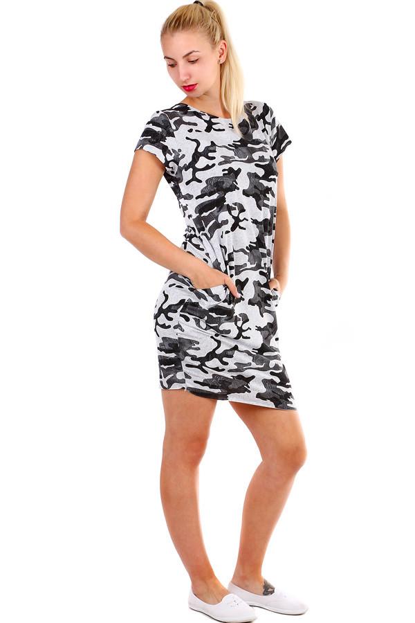 75f404cd2b9c Krátke dámske šaty s army vzorom