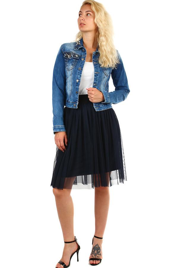 tylová dámska midi sukňa s pružným pásom acd95208f1