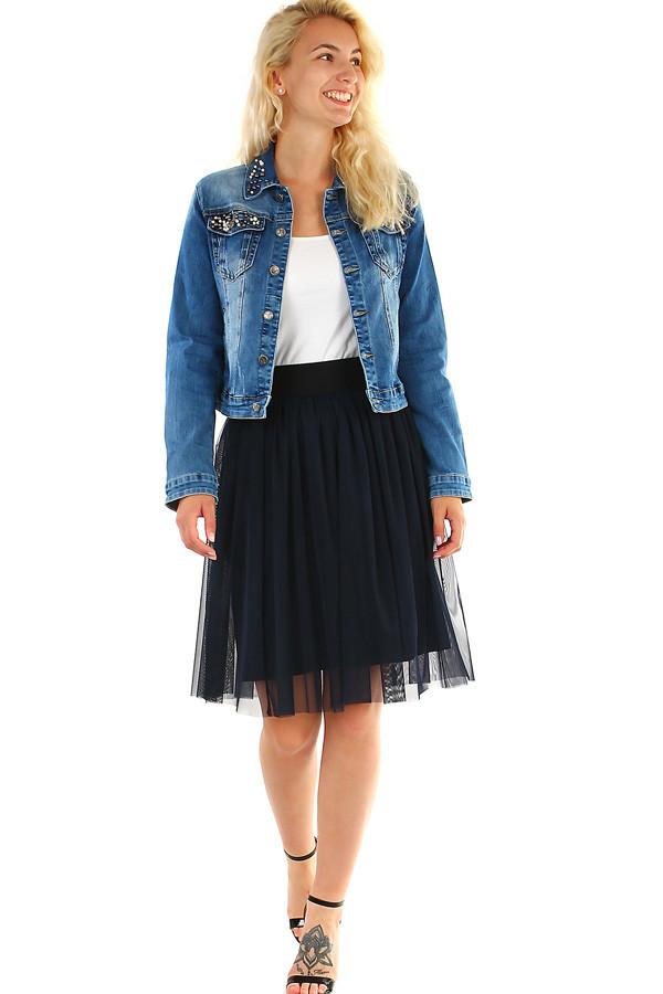 a5a44b4e4dae tylová dámska midi sukňa s pružným pásom