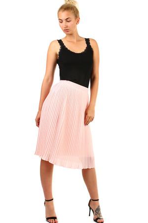 563a8914c56a Dámska plisovaná skladaná midi sukňa s pružným pásom