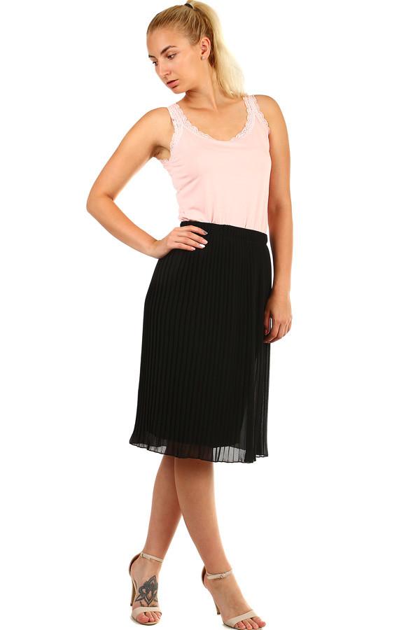 20c4dd11a1d5 Dámska plisovaná skladaná midi sukňa s pružným pásom