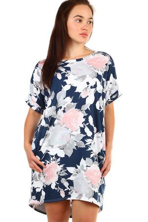 Voľné kvetované letné šaty pre plnoštíhle c6ef3e22910
