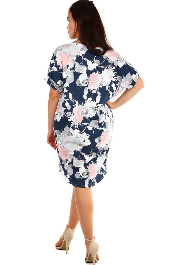 Voľné kvetované letné šaty pre plnoštíhle  f2470cc4bdb