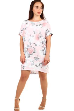 Voľné kvetované letné šaty pre plnoštíhle c2f890c4d67