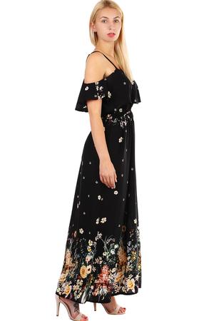 3b3ba1651872 Dámske dlhé áčkové letné šaty s úzkymi ramienkami