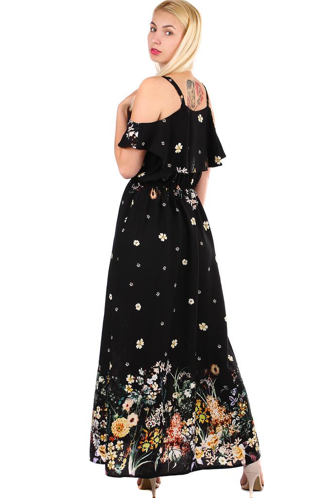 Dámske dlhé áčkové letné šaty s úzkymi ramienkami  0b6d9b594e2