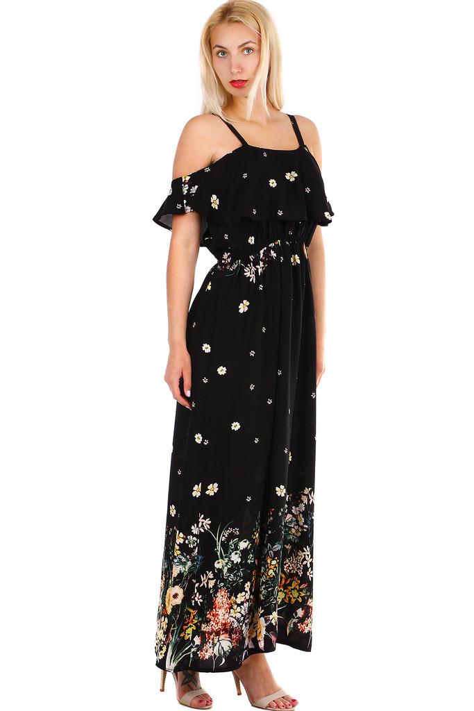 c2aaf2b54b1e Dámske dlhé áčkové letné šaty s úzkymi ramienkami