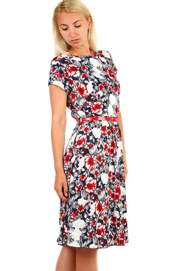 Dámske kvetované retro šaty midi dĺžka  cbad41a0eb8