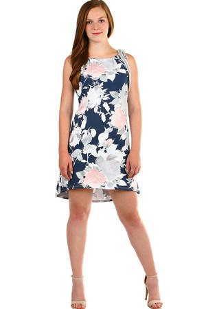 Lacné bavlnené šaty kvetované xs  a71619aeb37