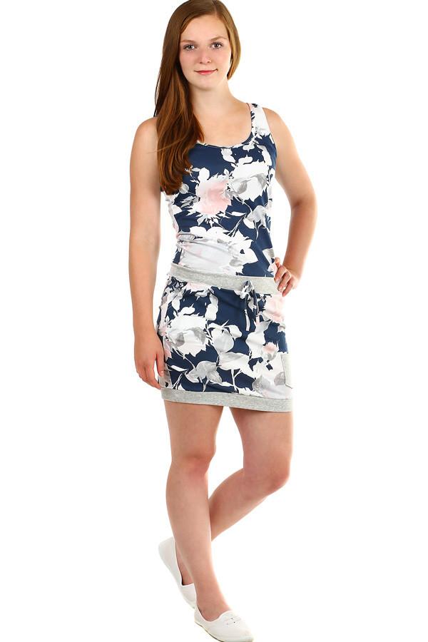 Dámske letné kvetované šaty s vreckami  6902e969a8c