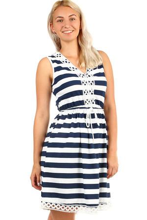 bb6925083018 Krátke dámske letné námornícke šaty