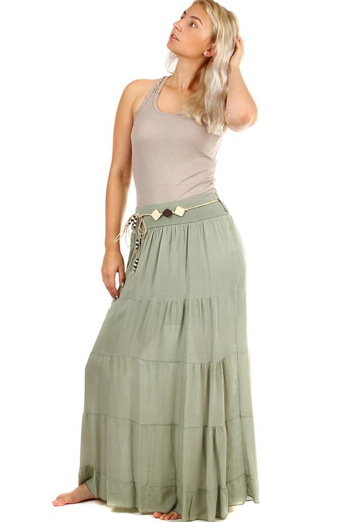 6d7ad91124df Dlhá dámska maxi sukňa s elegantným opaskom