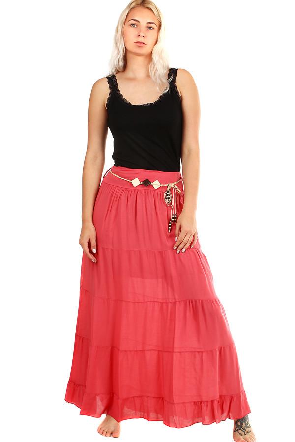 Dlhá dámska maxi sukňa s elegantným opaskom  1a56ea4c26b