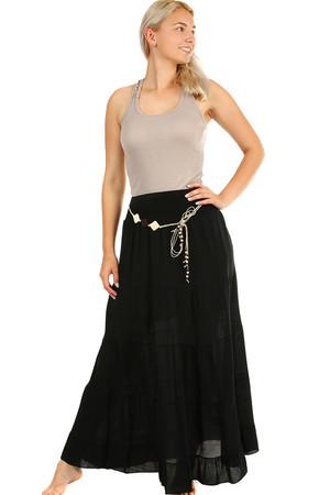 5e14964aad41 Dlhá dámska maxi sukňa s elegantným opaskom