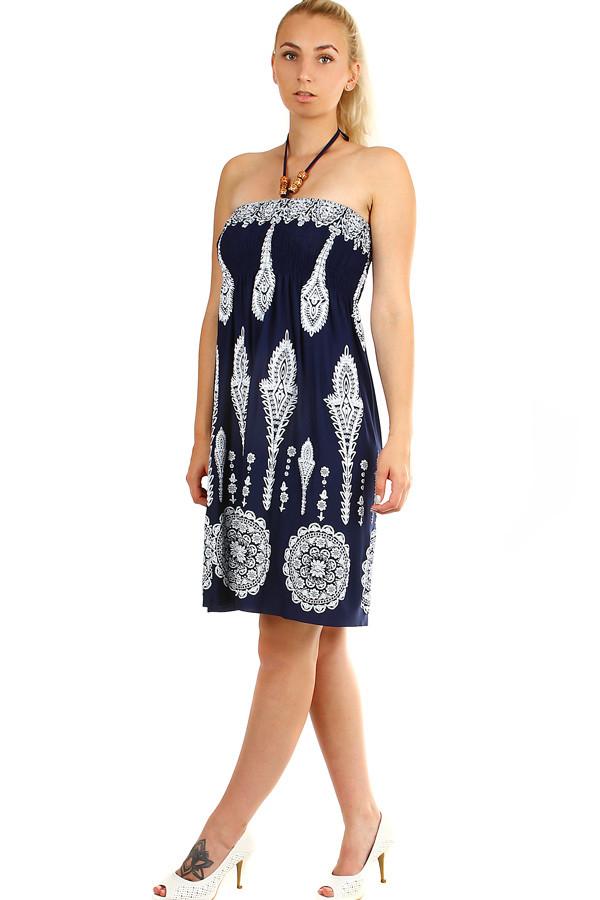6f9a39dda69c Dámske jednofarebné letné plážové šaty bez rukávov