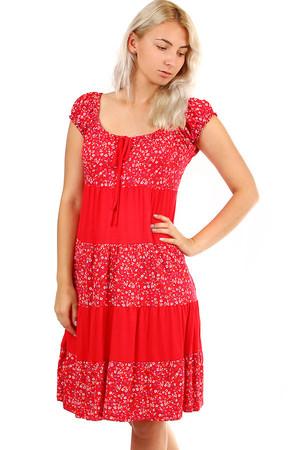7b1d12780 Dámske letné plážové šaty s kvetinovým vzorom
