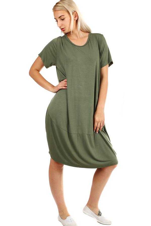 Voľné plážové jednofarebné šaty  a0ca8085453