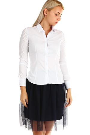 ec4a7885ad3b Biele dámske blúzky a košele s dlhým rukávom