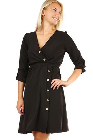 0faa32f82765 Dámske krátke čierne spoločenské šaty