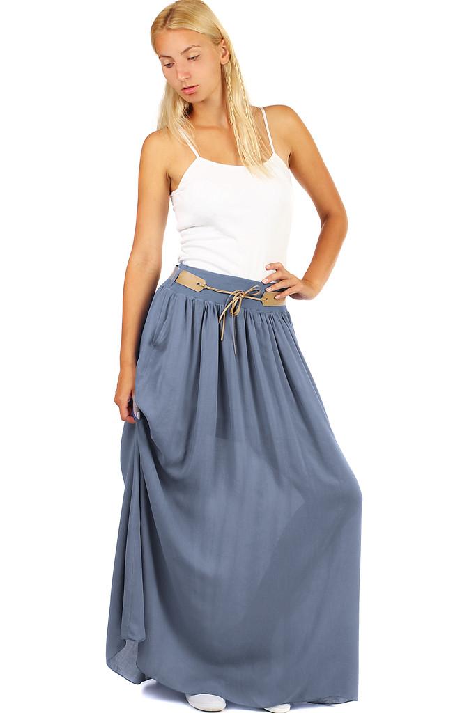 4e55abe530fd Dámska dlhá sukňa s vreckami