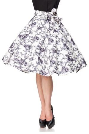 723df8e4b088 Retro sukňa s kvetinovým vzorom