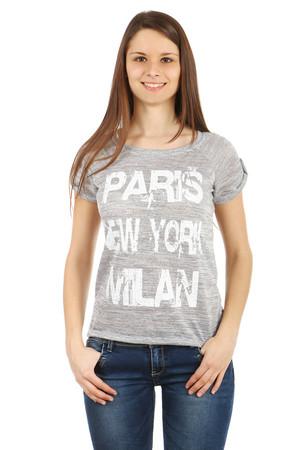 e42e8421e277 Dámske sivé športové tričká s nápisom xs výpredaj