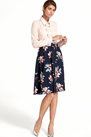 4abbb645a9d3 Polkruhová sukňa s kvetinovou potlačou