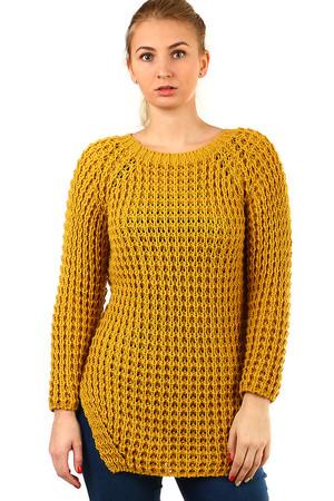 08ac0c0977f4 Žlté dámske svetre a pončá novinky