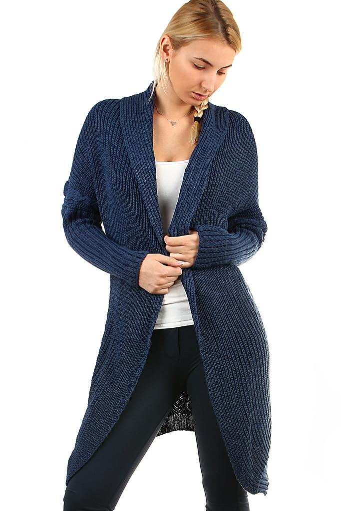 9ed2dad808a5 Dlhý pletený sveter bez zapínania