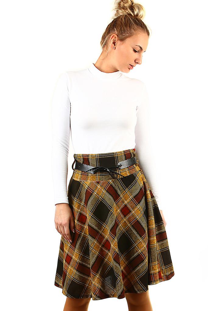 40bec5e49dc8 Áčková sukňa s károvaným vzorom
