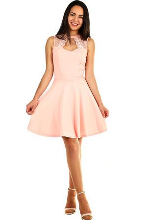 Lacné dámske krátke ružové šaty jednofarebné plesové  8b630f04de5