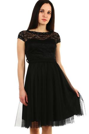 Luxusné krátke čierne spoločenské šaty  3c2813b95ca