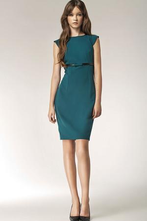0a6e3c15413 Farba  zelená x · Dámske šaty s aplikáciou pásku