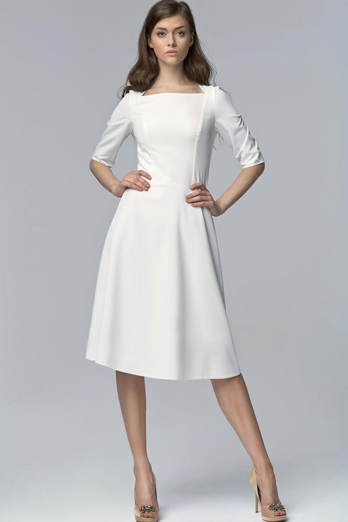 Dámské midi šaty s rukávom  b4aff3da08f