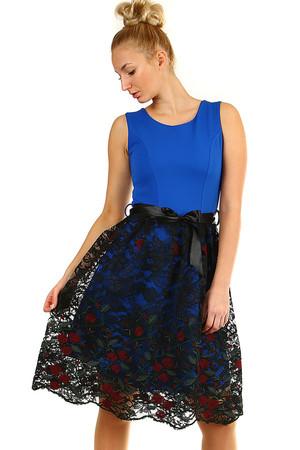 eee0bf901f6e Spoločenské šaty s čipkovou sukňou