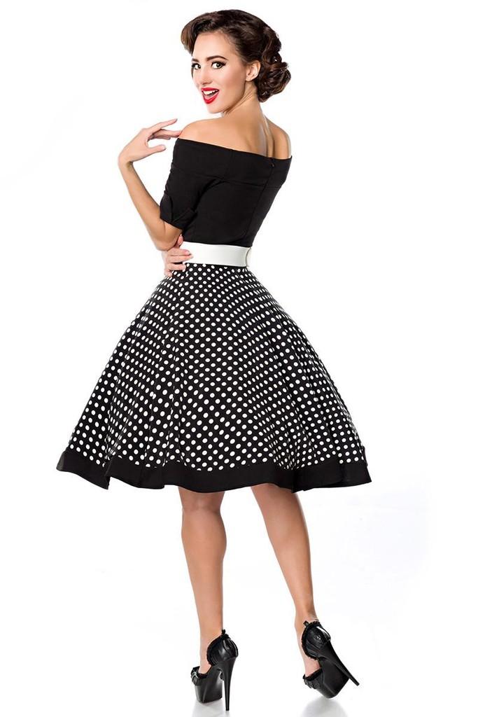 Retro dámske šaty s bodkami  a35ff02efa7