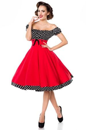 1038fbca1a20 Vintage dámske šaty s Carmen výstrihom