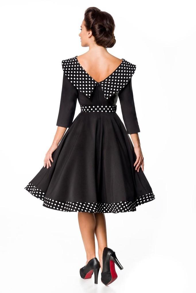 877a50ed9 Retro spoločenské dámske šaty s 3/4 rukávmi a golierom | Glara.sk
