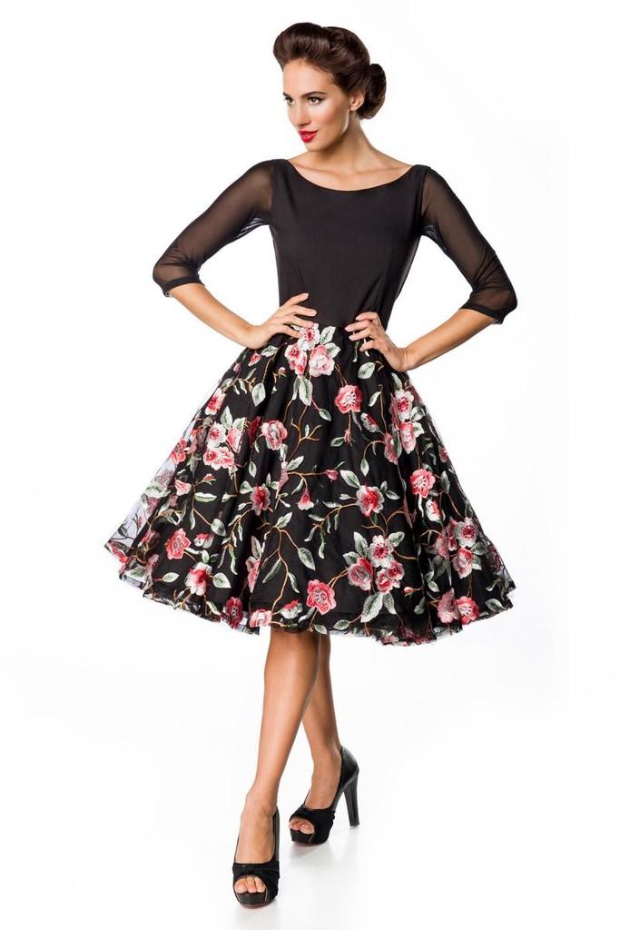 3dd779e7a770 Retro šaty s jarnou výšivkou