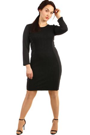 Spoločenské čierne dámske šaty 28bbc8ca101