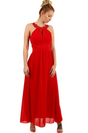 03119ba3c4cf Plesové dlhé šaty s výšivkou a korálkami