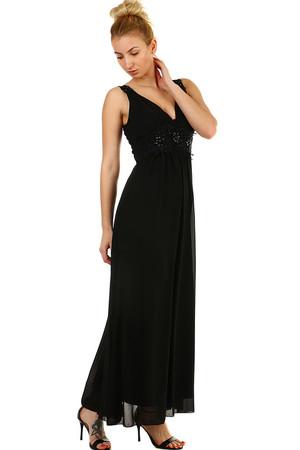 369c1f8d3892 Dlhé spoločenské šaty s výšivku a korálkami