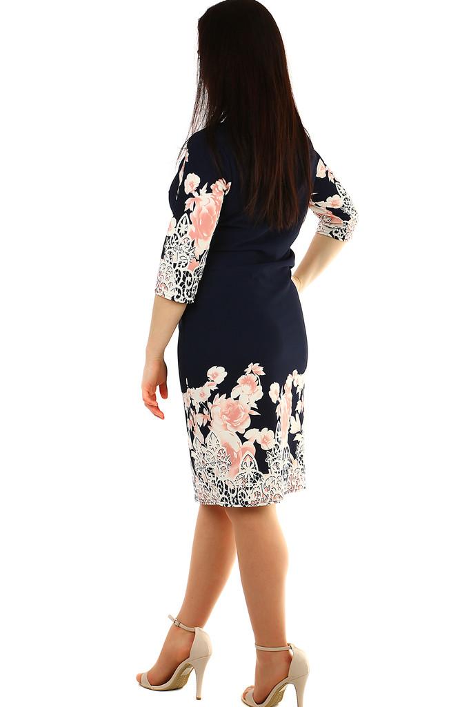 ab058aa1a896 Dámske spoločenské kvetinové šaty pre plnoštíhle