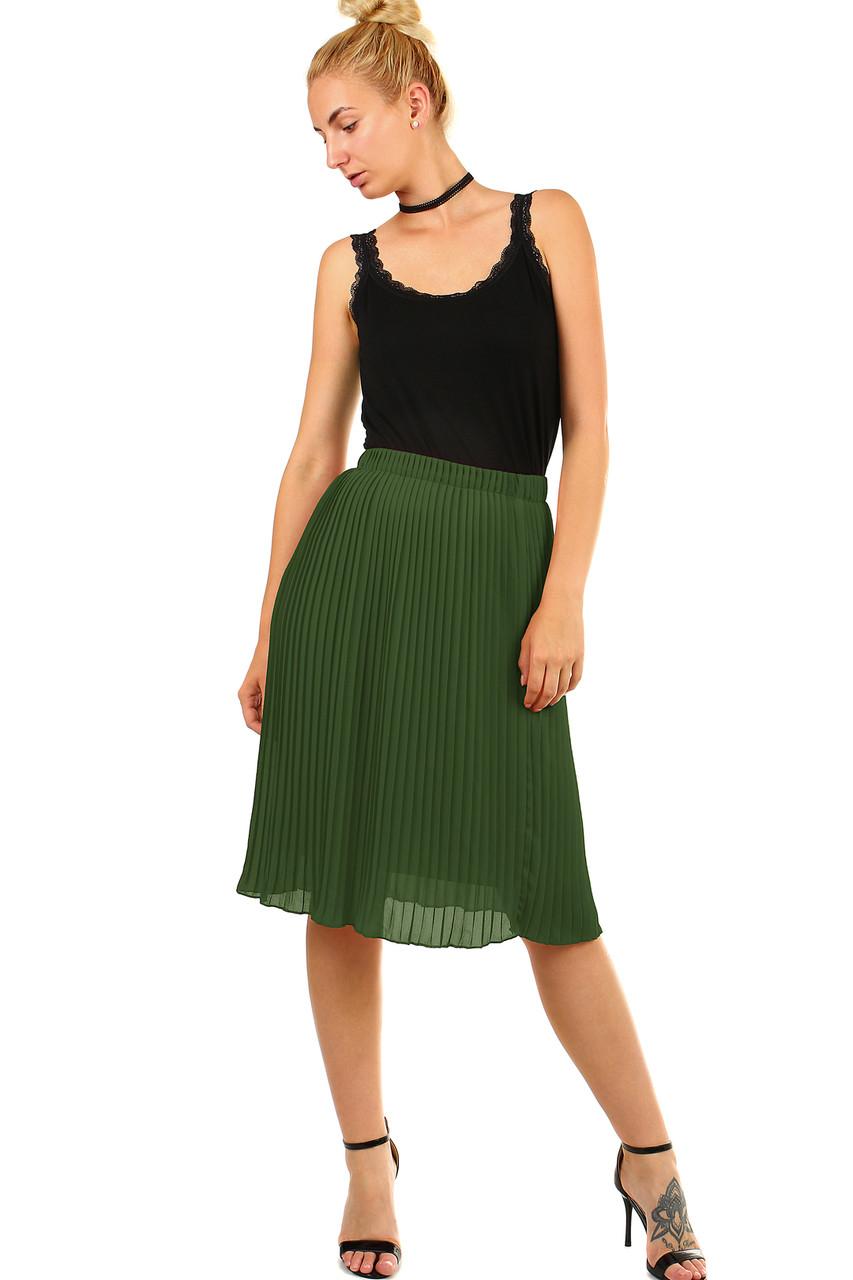 f9fc7d6a96d4 Dámska plisovaná skladaná midi sukňa s pružným pásom