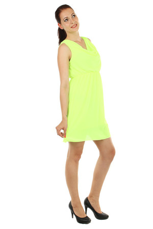 Lacné žlté šaty jednofarebné bez rukávov  f69802adfa8