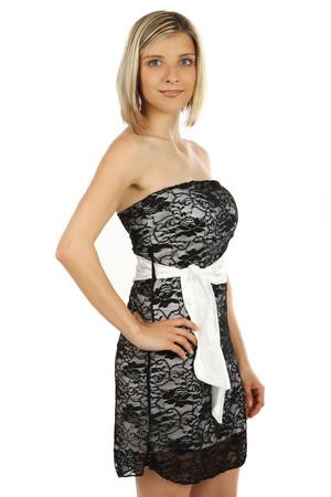 0017849405cd Lacné dámske krátke biele šaty xl